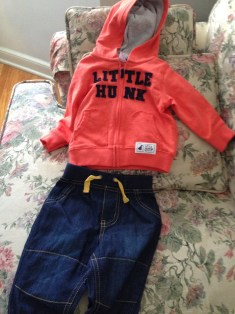 Cute Baby Hoodie and Jeans