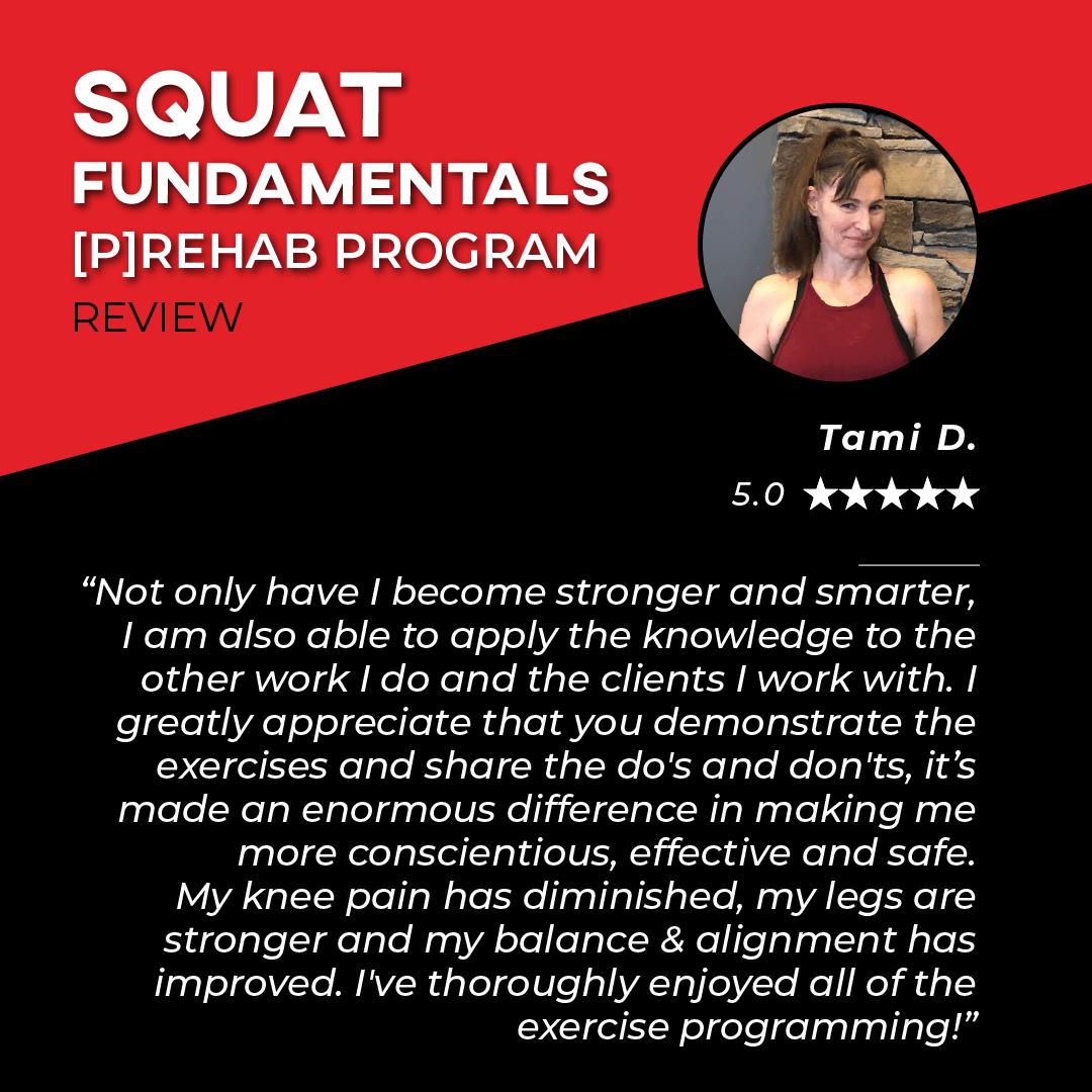 TPG Testimonies - Squat Fundamentals - Tami D