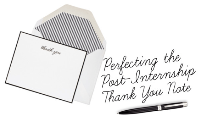Perfecting The Post Internship Thank You Note PrepEssentials