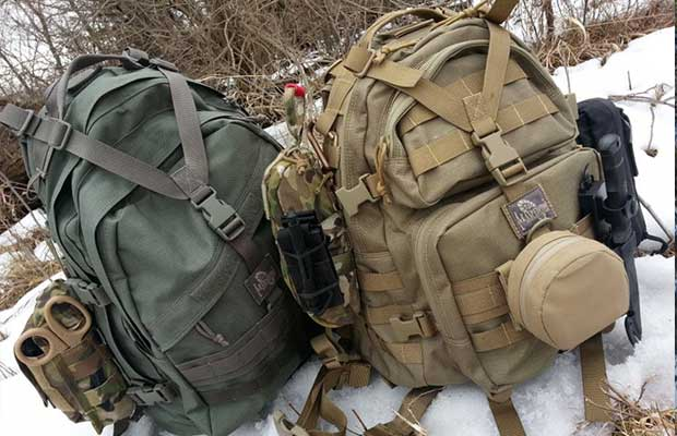 Military style packs are good but obvious options as bug out bags
