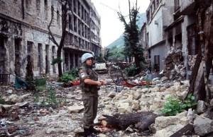 Soldier during Balkan War.
