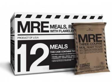 Any prepper plan has to take into consideration what food options will be best in various situations. Usually we recommend different types of food for different scenarios. If the power goes out you look for food that doesn't need to be cooked. Canned tuna, MRE's and snack bars fall into this category of course so do a lot of other foods. You want to store foods that your family will eat but there is also a need to have long-term storable food that you can take with you in a bug out bag. Frequently I will recommend freeze-dried foods for bug out bags, but those do require some preparation. For starters they need hot water or else you are eating rocks. MREs do not need water (except the pudding) and you don't even need to heat them up.There are some weight considerations in that MREs weigh more than freeze dried food but they do have their advantages. I have a few boxes stored as part of my food storage plan because they are an easy way to get the calories you need for survival. I also have food stored in buckets, canned food and freeze-dried food. I am an equal opportunity food storage person and there is something to be said for having variety. Are MREs the the best prepper food? I don't think there is ever a single best food for all prepper situations, but MREs are proven reliable. If our military uses them you can bet that you could find reasons to use them too. They are more expensive than other options but you don't have to prepare anything, they even throw in the salt, pepper and a little moist towelette to wipe your face and hands when you are done. They used to come with toilet paper and chewing gum but apparently that is not part of these MREs.