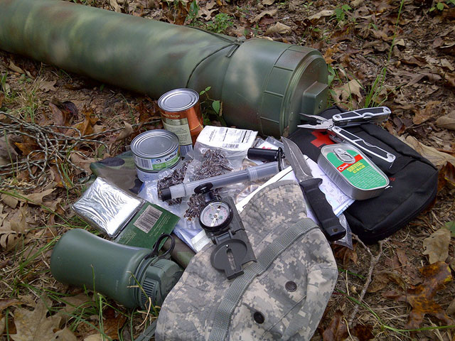 Buried caches along your route allow for resupply when other means aren't available.