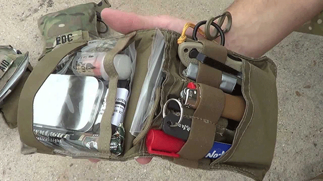 Some of your vehicle EDC items can be stored in smaller pouches like this one from Maxpedition.