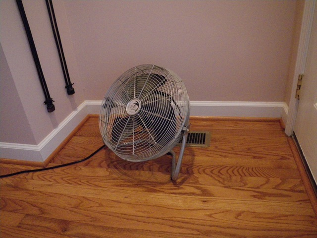 Even a small fan set to blow back up from the floor can make a huge difference in our power draws (and bills). They function similarly to the historic use of ceiling fans to draw heat up but instead, they keep cool air from settling at our ankles.