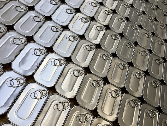 Having a good supply of canned food will be necessary to go off grid.