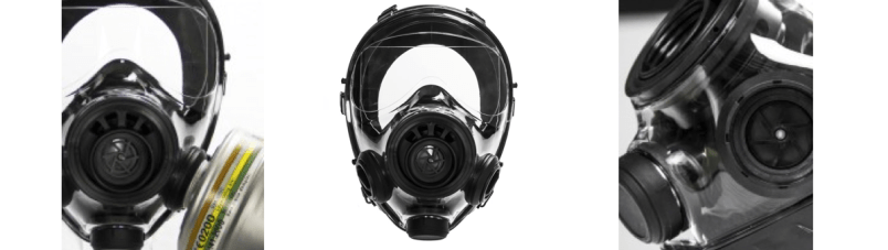 The NBC nuclear gas mask you need to use in a nuclear, biological or chemical situation