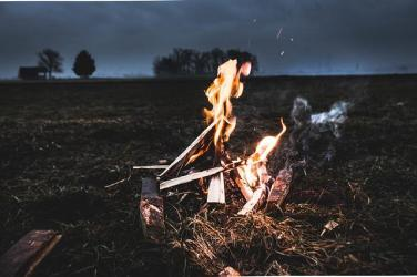 Wilderness Survival with a fire