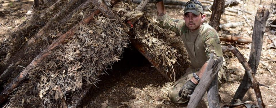 wilderness survival with a shelter