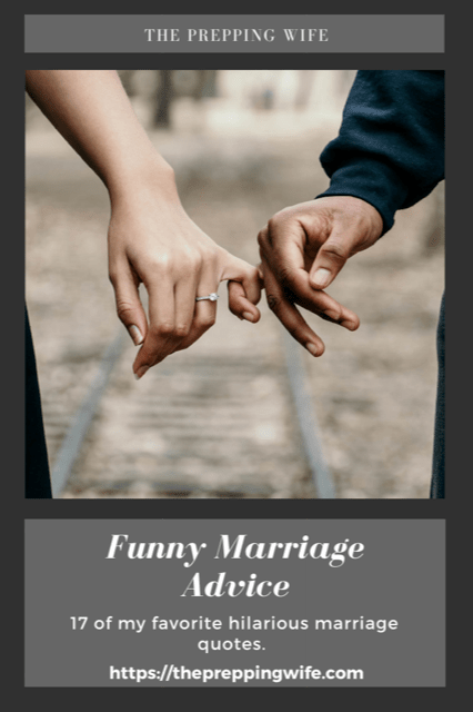 Marriage Advice Quotes Funny : marriage, advice, quotes, funny, Funny, Marriage, Advice, Prepping