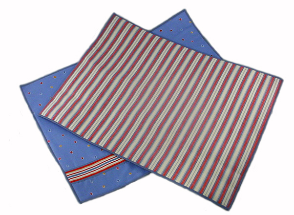 Preppy Placemat™ Tradition Fancy Stripes & Little Flowers