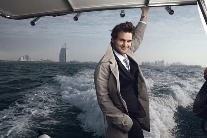 Roger Federer in Dubai, Annie Leibovitz photo
