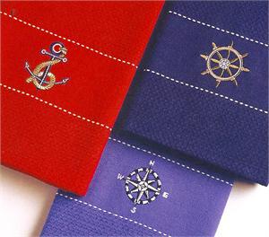 PreppyPrincess.com Seaside Dish Towels
