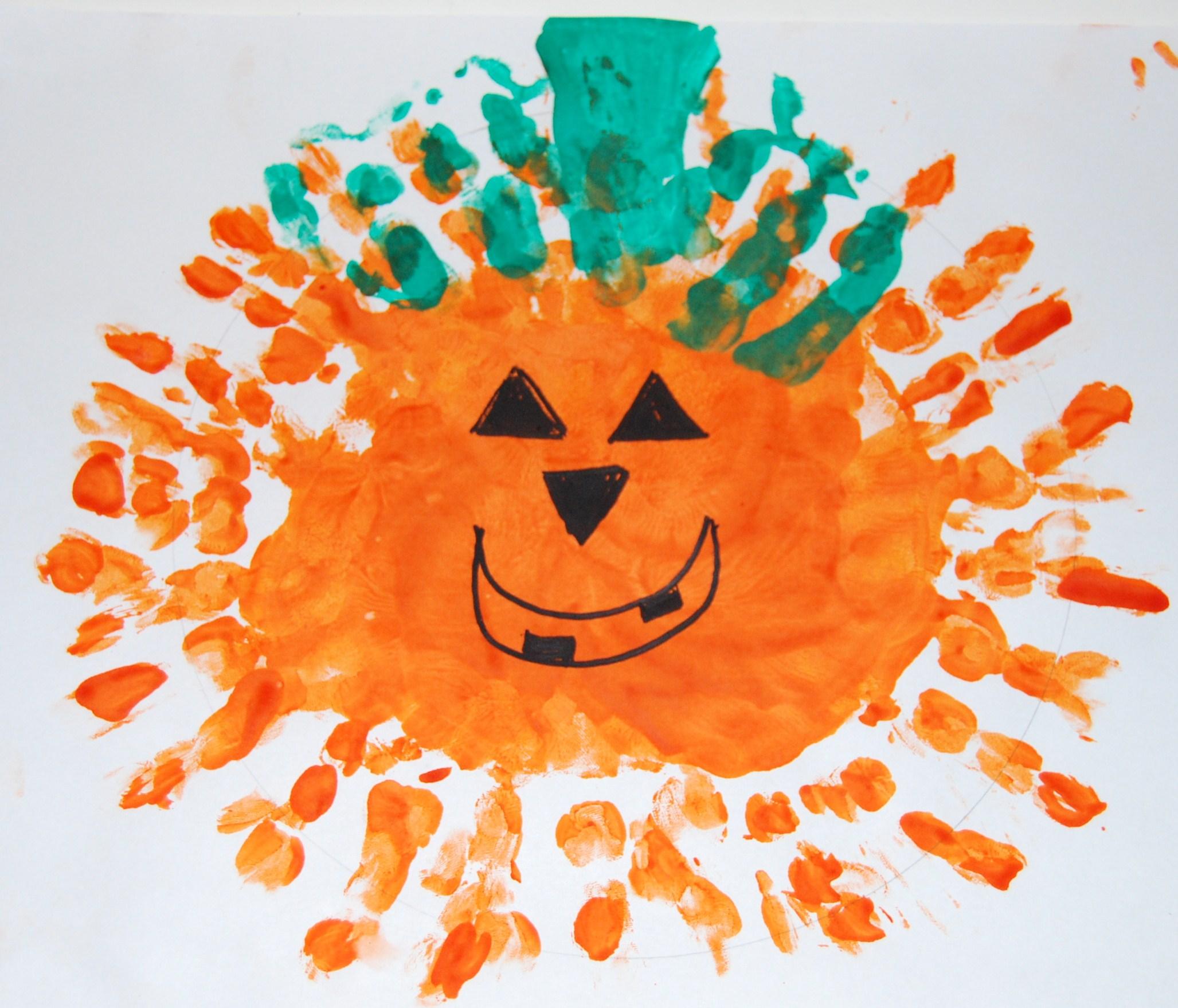 Handprint Jack O Lantern