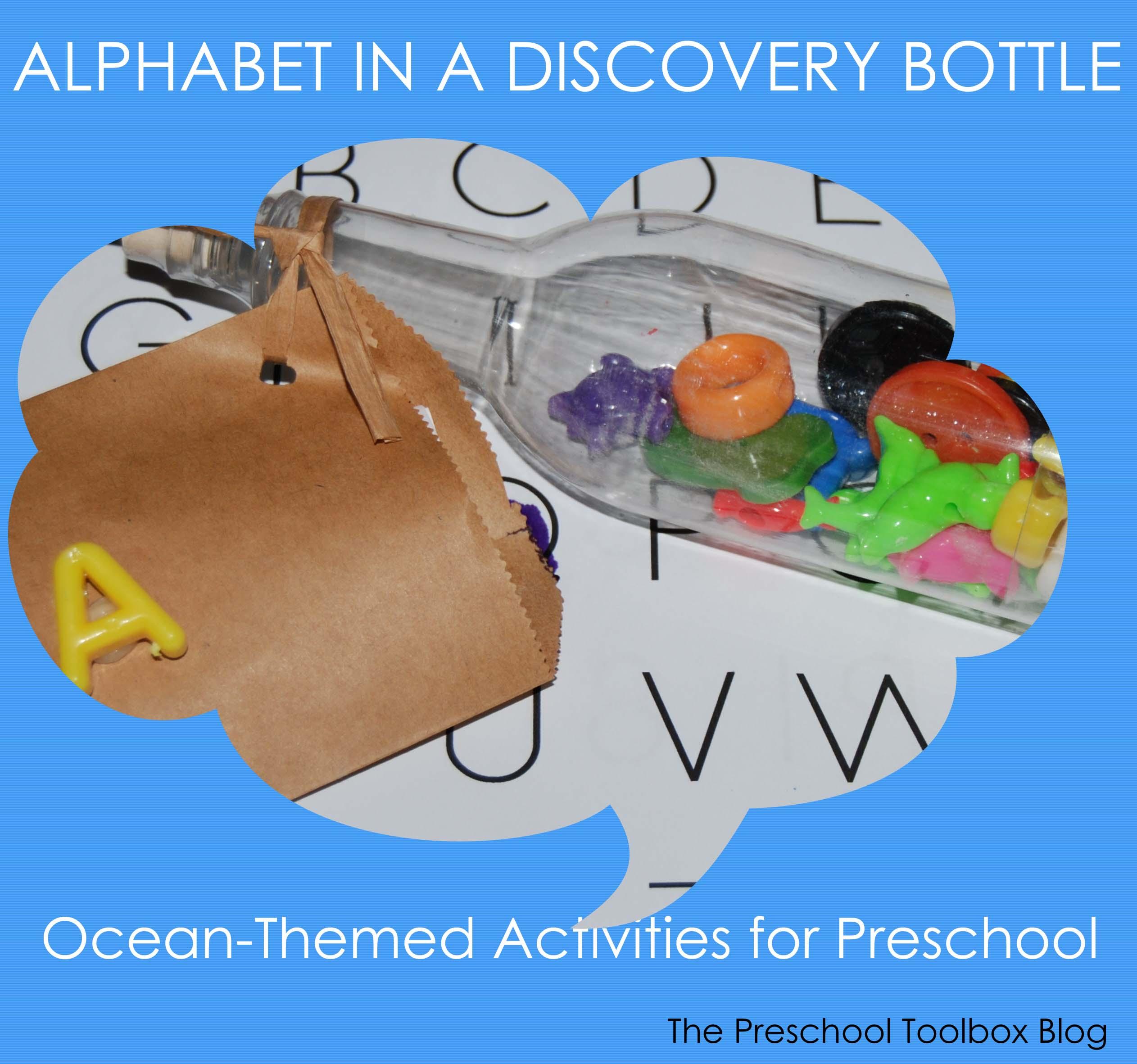 Alphabet Bottles The Preschool Toolbox Blog