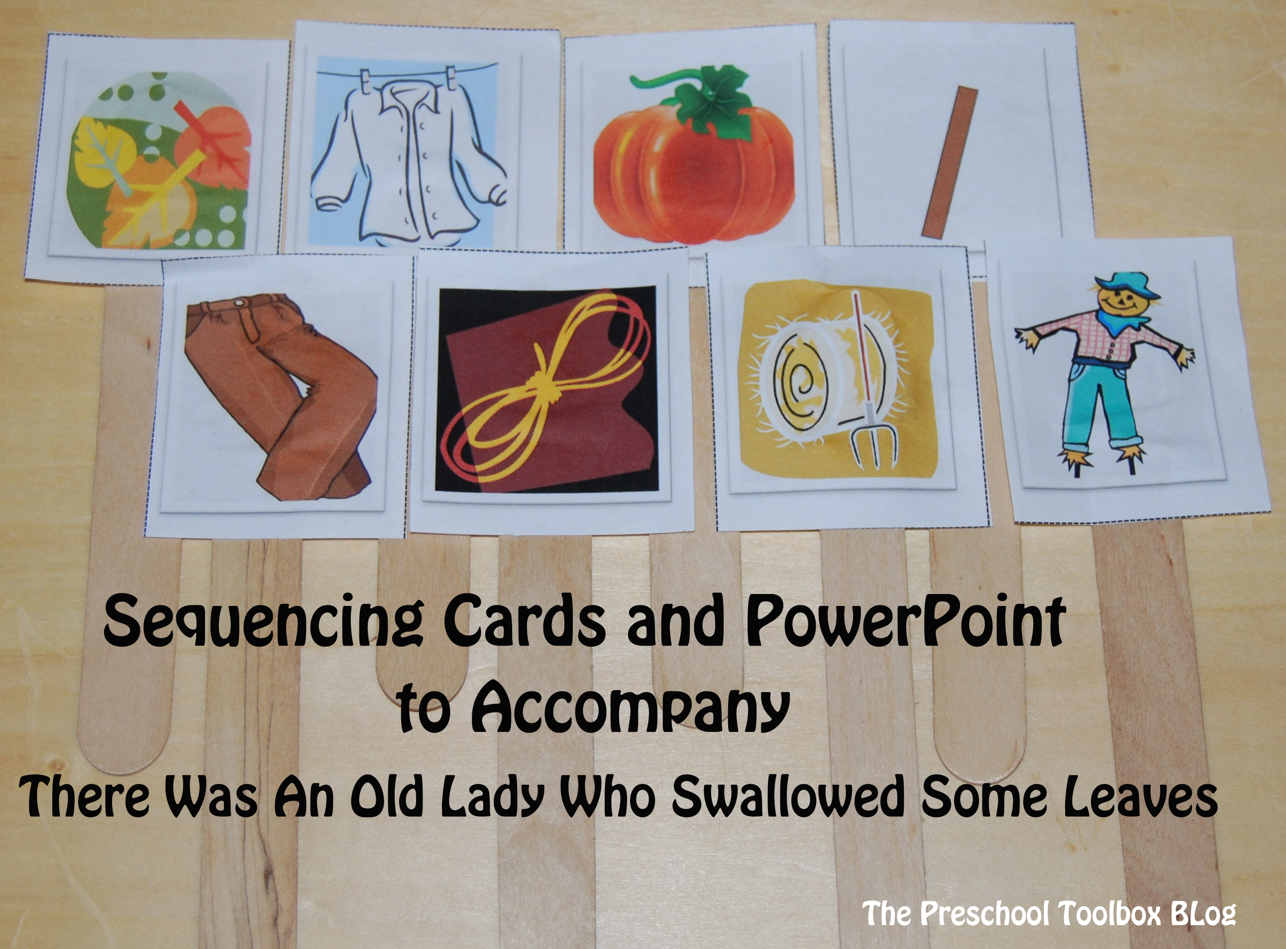 There Was An Old Lady Who Swallowed Some Leaves Sequencing Cards