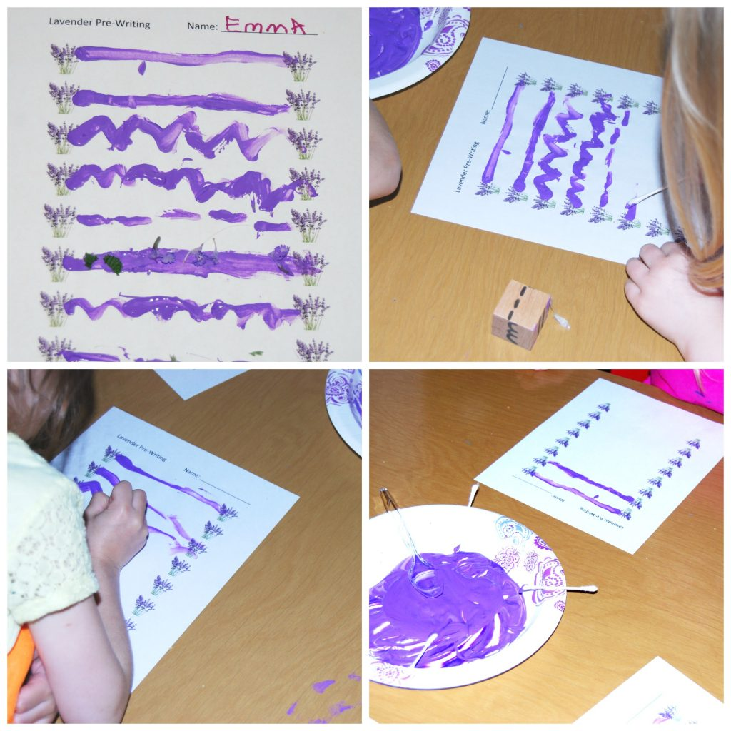 Lavender Scented Sensory Paint And Lavender Pre Writing In