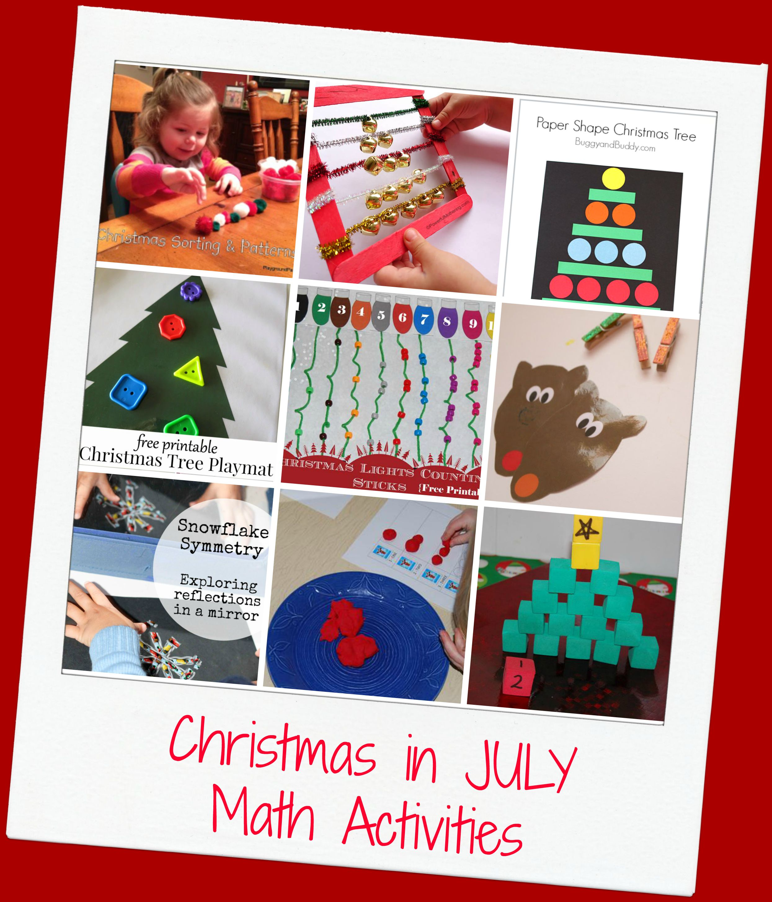 Christmas In July Math Activities For Preschool The