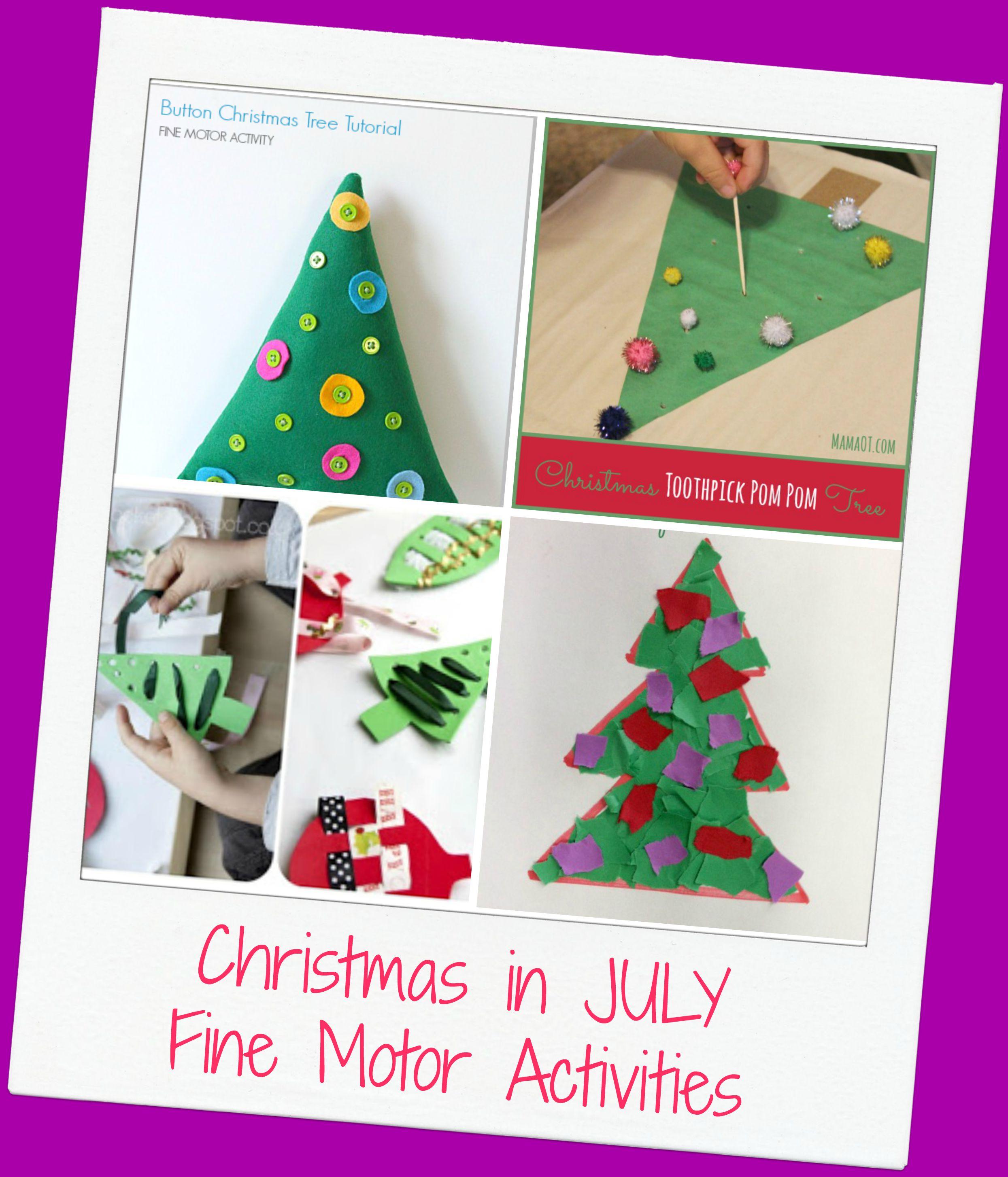 Christmas In July Fine Motor Activities The Preschool Toolbox Blog