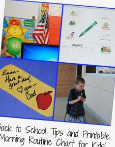 Back to school tips for parents plus printable morning chart also visual routine kids archives  the rh thepreschooltoolboxblog
