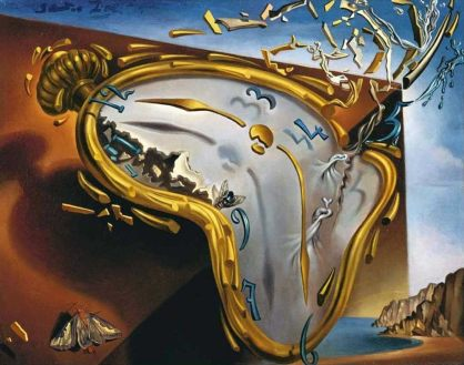 The Melting Watch (1854) - Salvador Dali Source: http://www.dalipaintings.net/