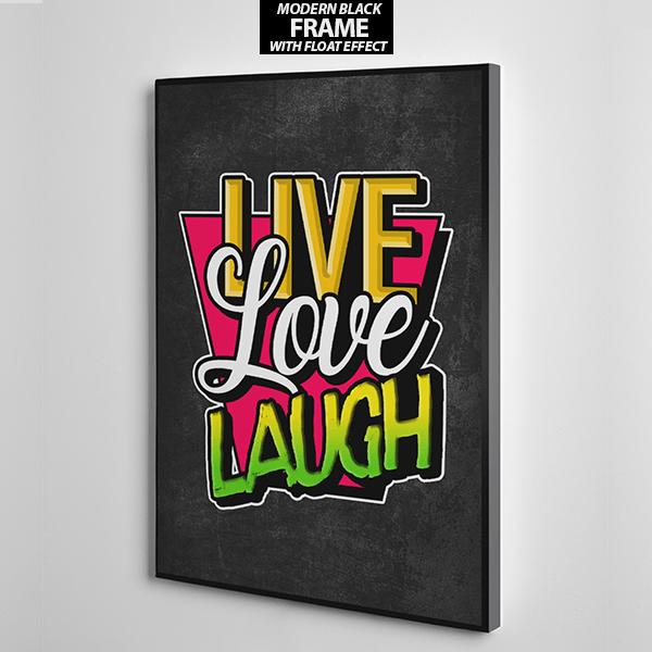 Live Love Laugh canvas wall art frame