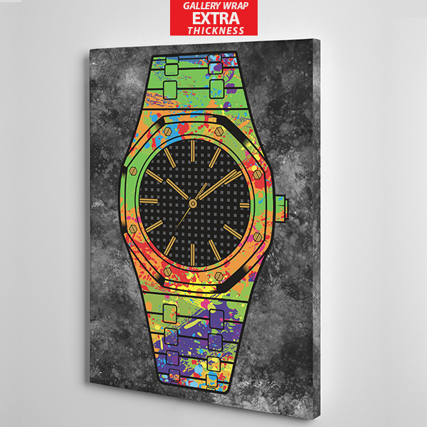 black face audermars piguet canvas wall art gallery wrap