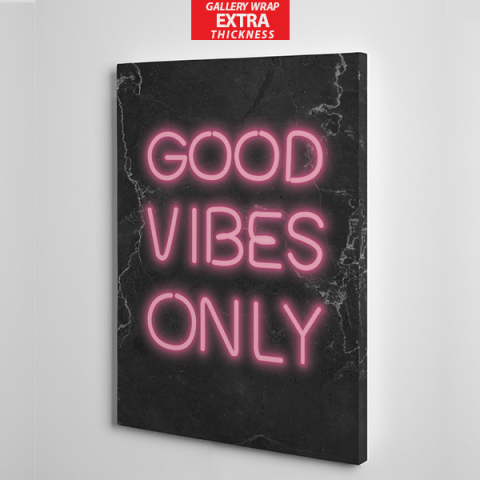 good vibes only canvas wall art the presidential hustle frame