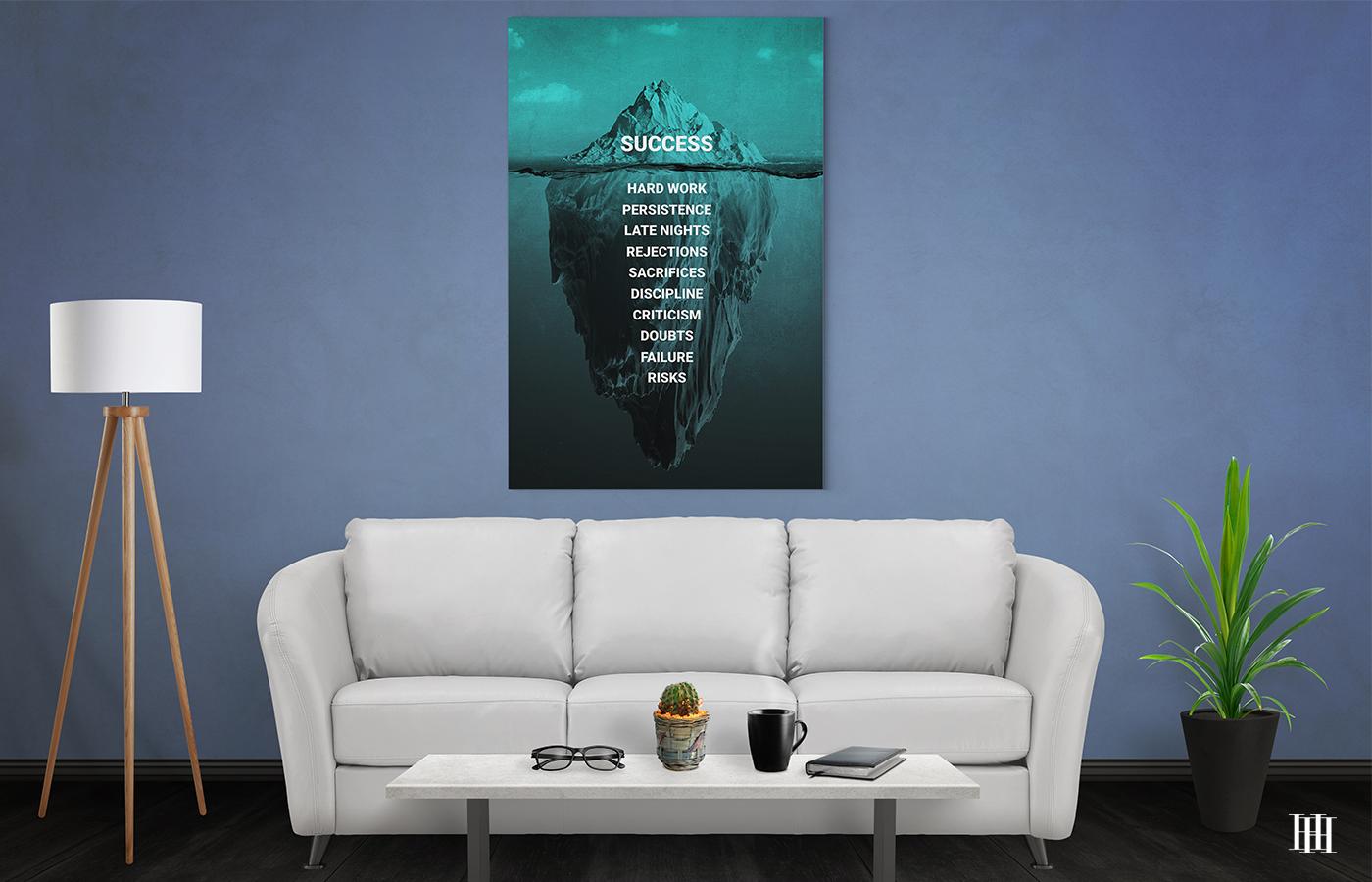 iceberg success canvas wall art the presidential hustle