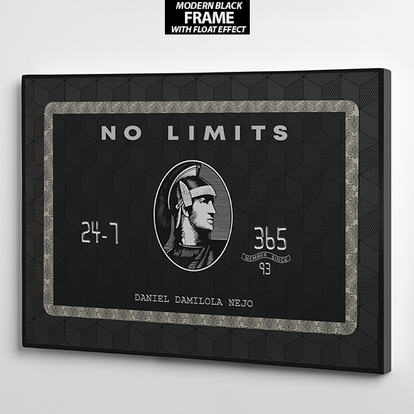 no limit american express wall art frame the presidential hustle