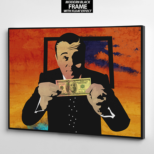 wolf of wall street canvas wall art frame the presidential hustle