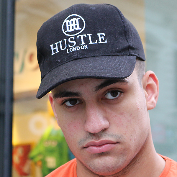 the presidential hustle black brushed cotton hat cap