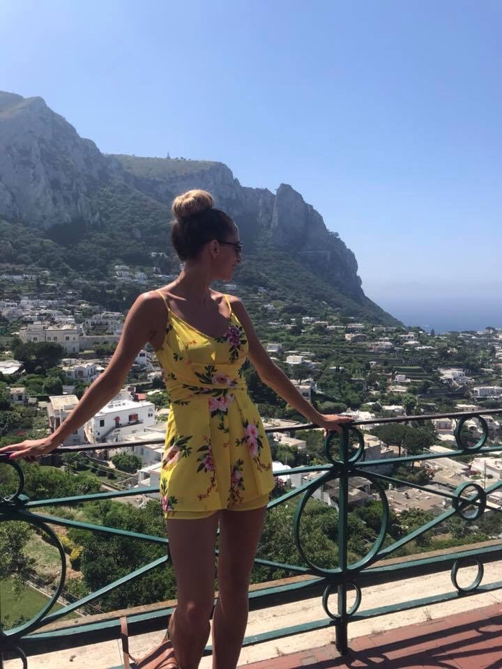 View from Capri town