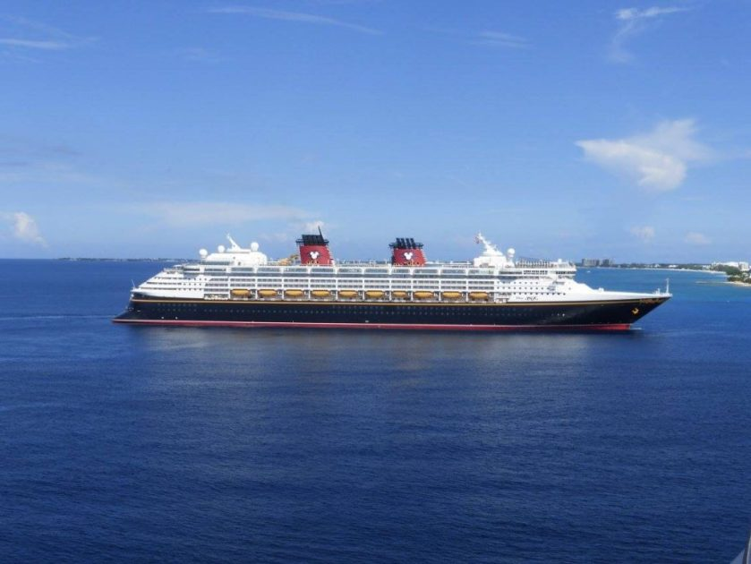 The Disney Fantasy cruise in Port