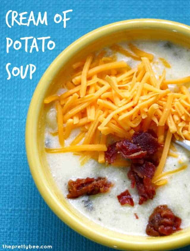 Pure comfort food - creamy potato soup with bacon.