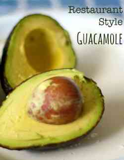 Restaurant style guacamole recipe