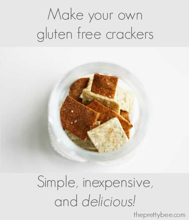 Make your own gluten free and dairy free crackers with this easy recipe from theprettybee.com