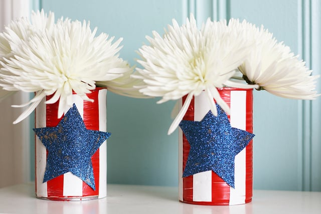 fourth of july vase