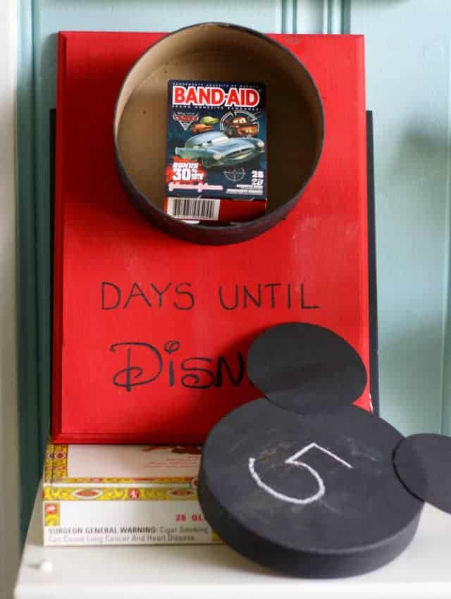 disney trip prize box calendar for kids