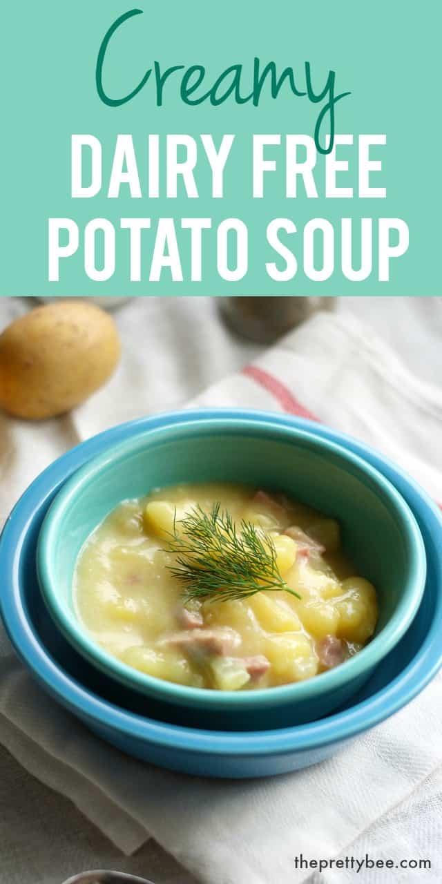 easy dairy free potato soup recipe