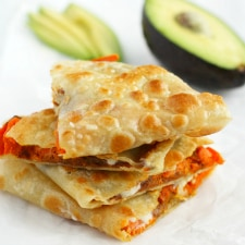 These crispy sweet potato quesadillas are a family favorite!
