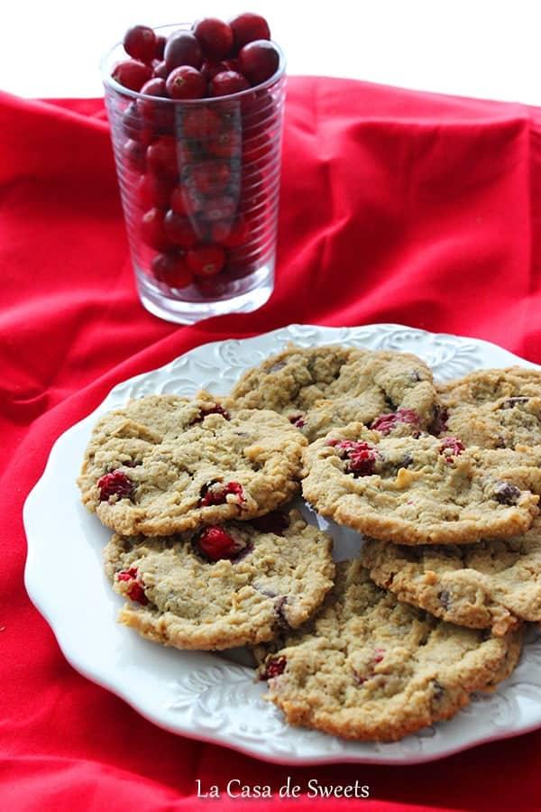 Gluten free cranberry chocolate chip cookie recipe