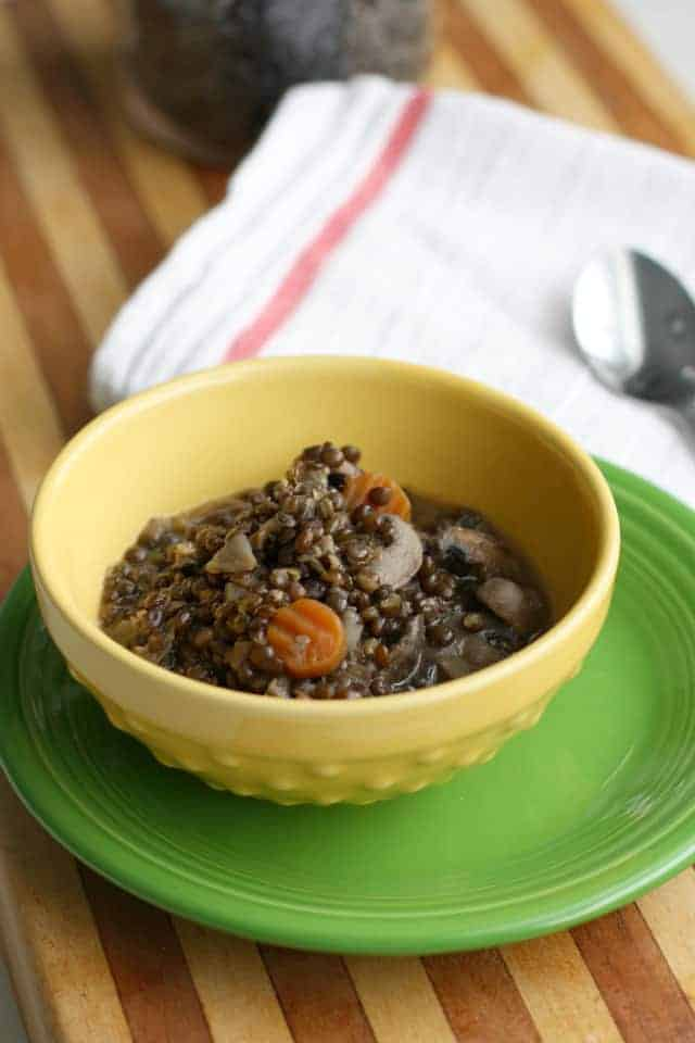Black lentil soup recipe - gluten free and vegan.