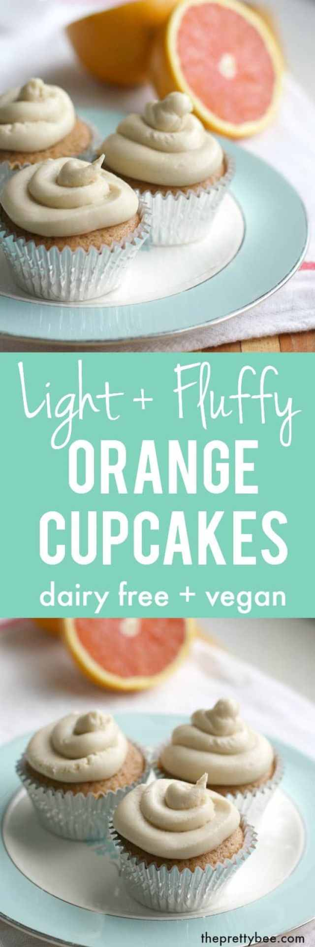 Light and fluffy vegan orange cupcakes are delicious and easy to make!