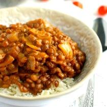 slow cooker lentil curry