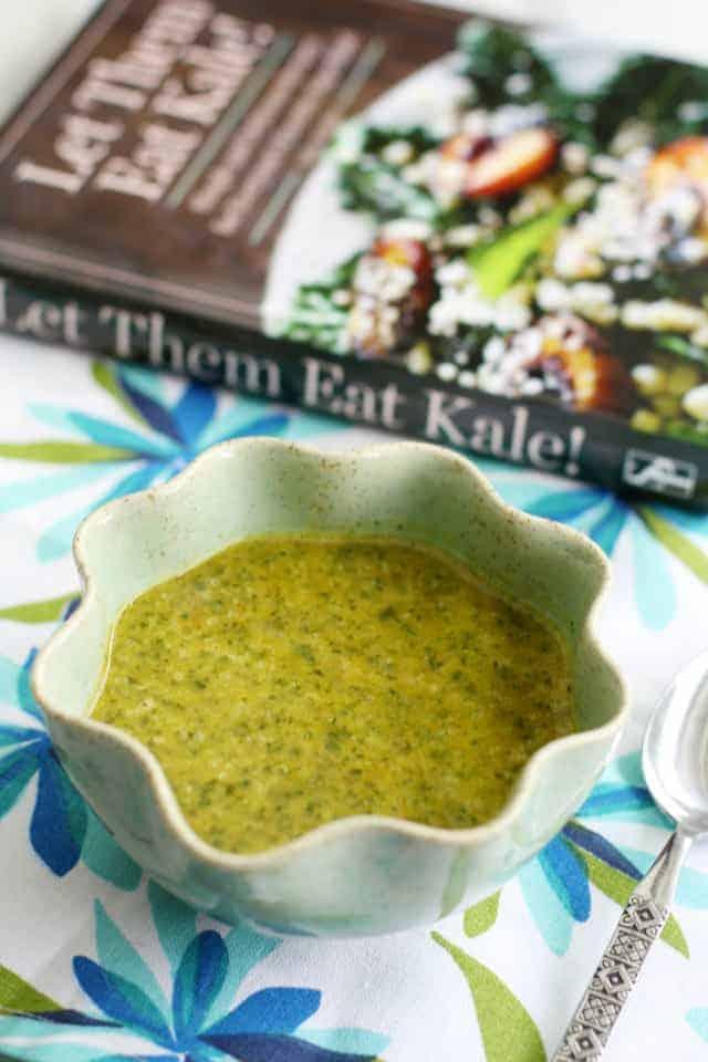 Sweet potato and kale soup recipe from Let Them Eat Kale! #vegan #glutenfree #kale
