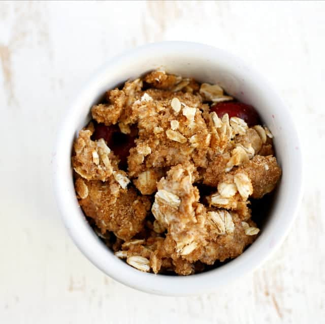 single serving microwave cherry crisp
