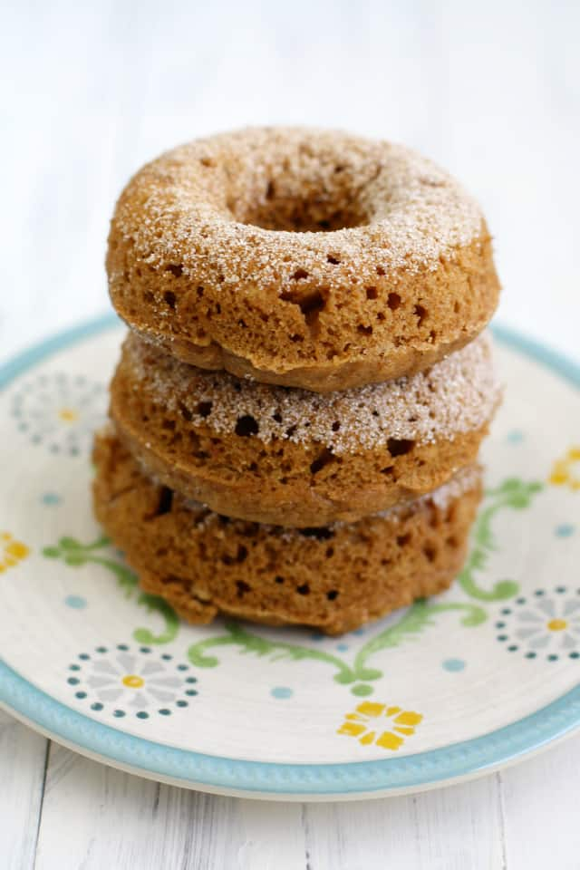 One of our favorite recipes to make in the cooler weather - baked cider mill donuts. #vegan #donuts