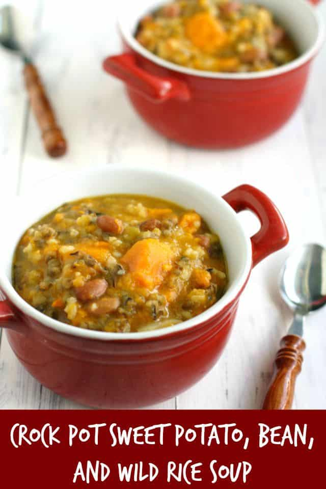 This sweet potato and wild rice soup is tasty, hearty, and healthy! Easy to throw in the crock pot, and everyone LOVES it! Perfect for fall!