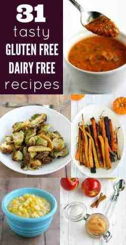 A delicious collection of 31 gluten free and dairy free recipes! These are easy to make, tasty, family friendly recipes that you will love!